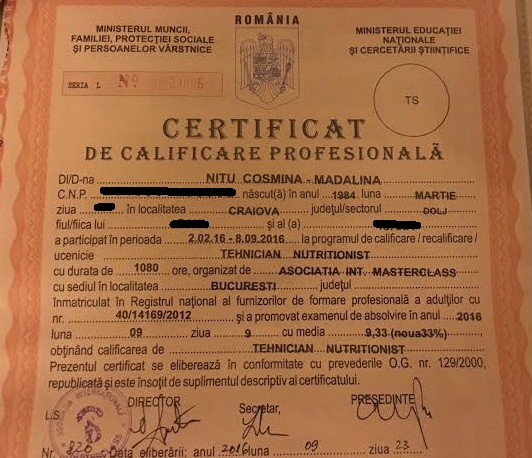 diploma modificata